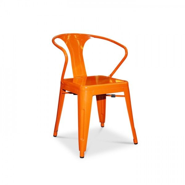 Tolix Arm Chair Xavier Pauchard Replica - Assorted Powder Coated Colours