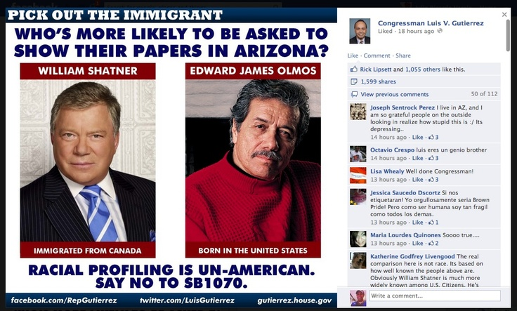 Congressman Luis Gutierrez's Immigration Memes Become Facebook Viral Hits