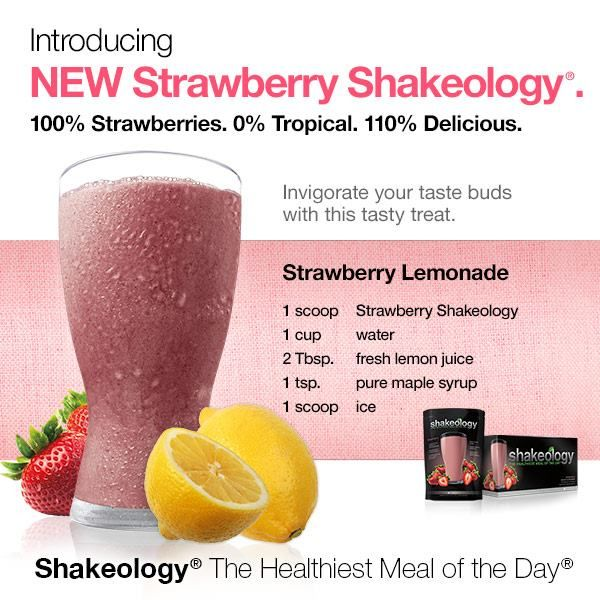 Strawberry Lemonade Shakeology Recipe. To get yours, visit www.shakeology.com/courtneymillerfit