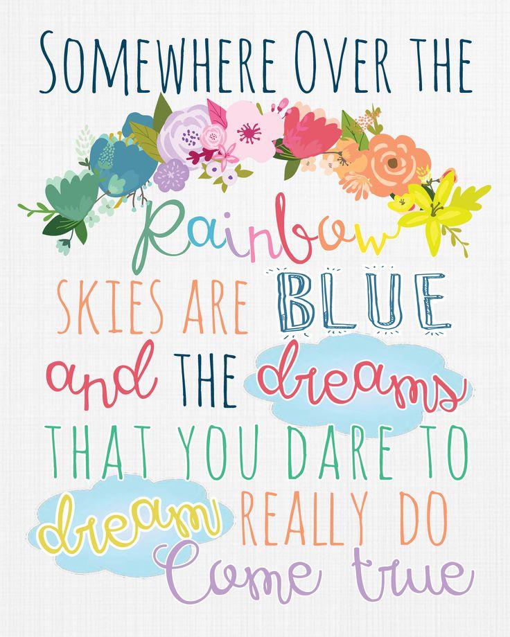 Somewhere over the rainbow Print by DubDubDesigns dubdubdesigns.etsy.com