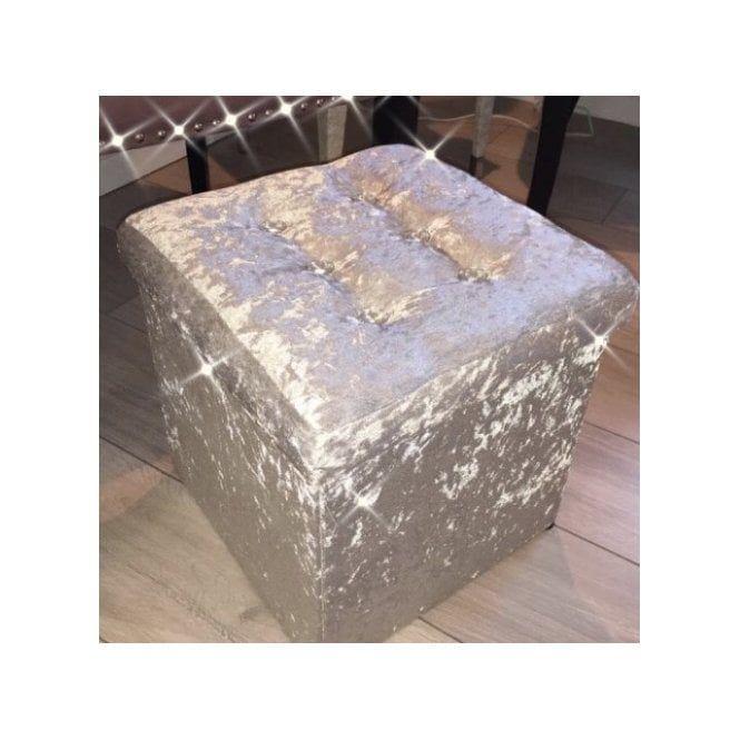 Lemonade Silver Crushed Velvet Storage Cube Home In 2019