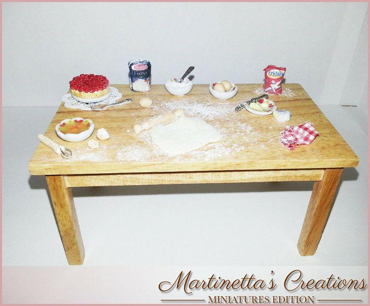 Tavolo preparazione dolci -miniatura in SCALA 1:12, by Martinetta's Creations -Miniatures Edition-, 40,00 € su misshobby.com