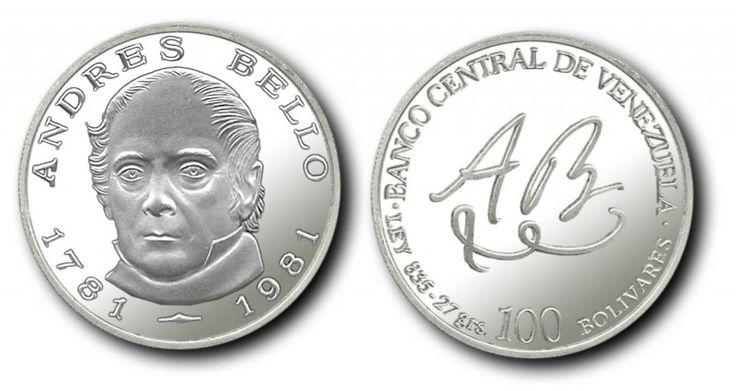 Moneda Conmemorativa: Bicentenario del Nacimiento de Don Andrés Bello