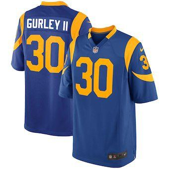 promo code 59ab9 e829e Todd+Gurley+II+Los+Angeles+Rams+Jersey+Blue+Yellow | https ...