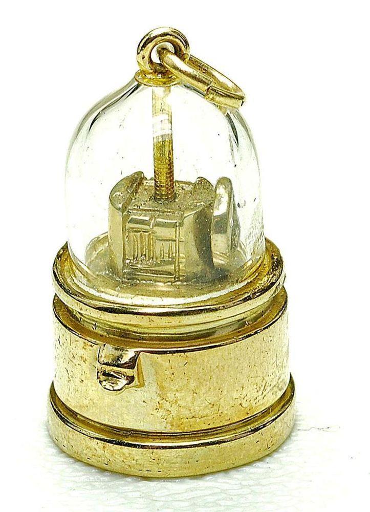 Vintage AMAZING RARE 14k yellow Gold TICKER TAPE MACHINE STOCK MARKET charm