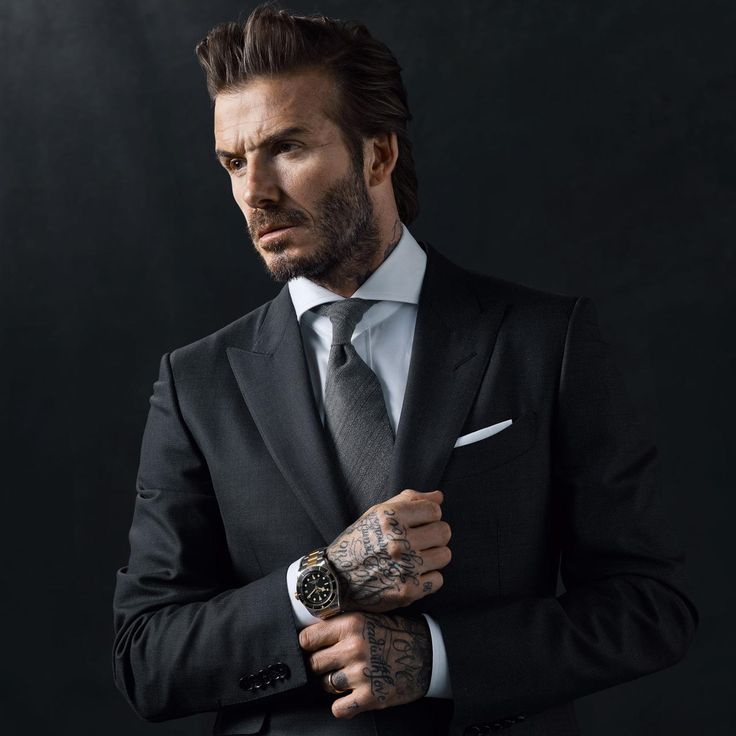 David Beckham poses for Tudor's Born to Dare watch campaign. http://www.thejewelleryeditor.com/watches/article/tudor-watches-david-beckham-ambassador/ #luxury