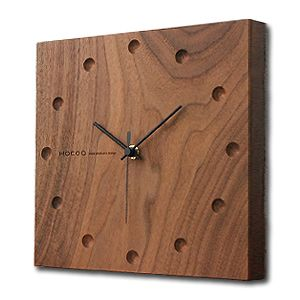 rocca-clann | Rakuten Global Market: Hacoa hacoa wall clock, wall clock / natural wood solid natural wood simple Japanese style modern stylish Scandinavian スイーブムーブメント static or living bedroom dining table lamps wall rectangle Maple H151-M