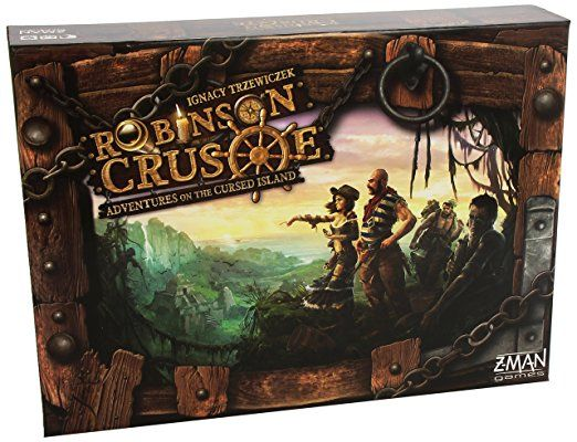 Z-Man Games ZMG71250 - Robinson Crusoe - Adventures on the cursed Island, Brettspiel, Englisch