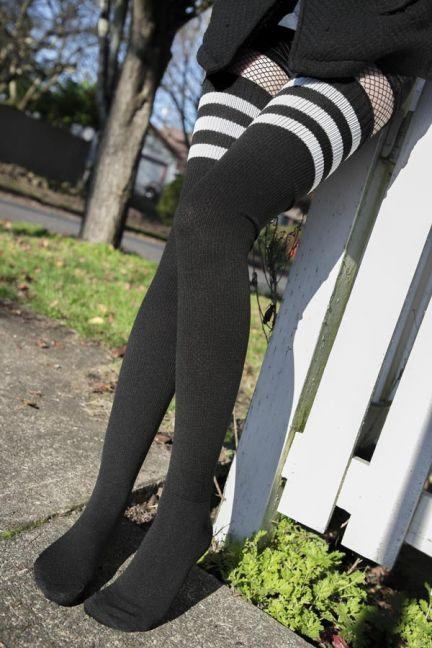 Teen Riding Dildo Stockings