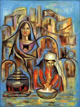 Iraqi Artist - Buthaina Abd-Raheem Iraqi-Art.com - Painting Gallery