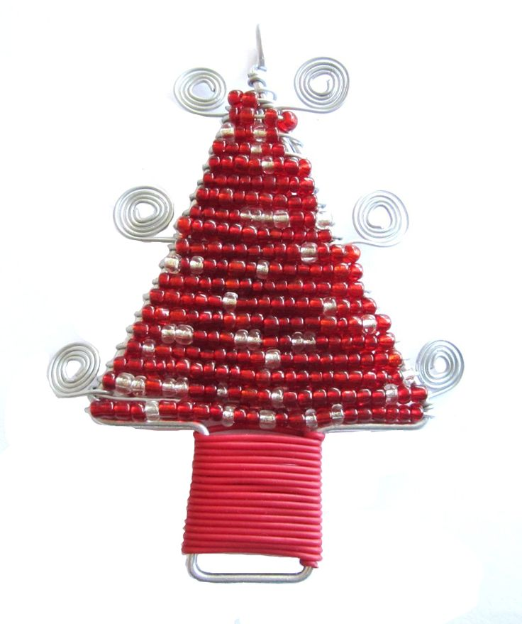 Wire Christmas tree Made by the crafters of Woza Moya www.hillcrestaids.org.za