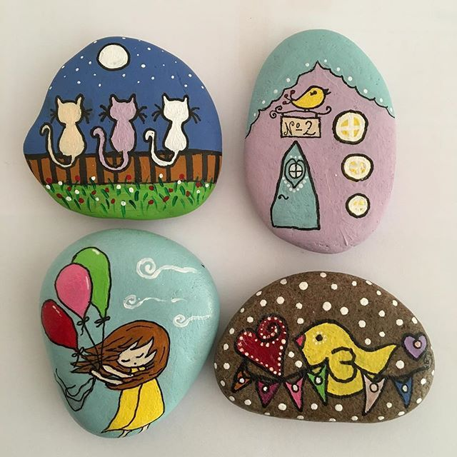 #taşboyama#magnet#stone#stonepainting