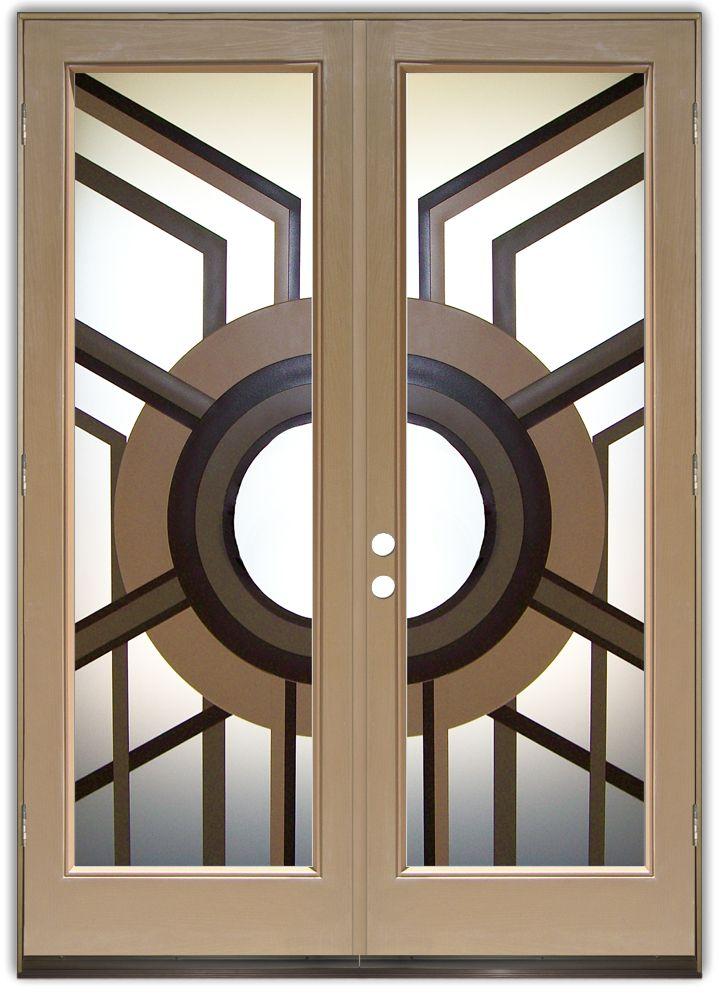 Glass Front Doors Contemporary Modern Decorative Etched Glass Sans Soucie Etched Glass Door Door Glass Design Glass Doors Interior