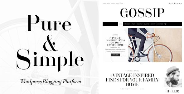 GossipBlog - Pure & Simple Personal WordPress Blog
