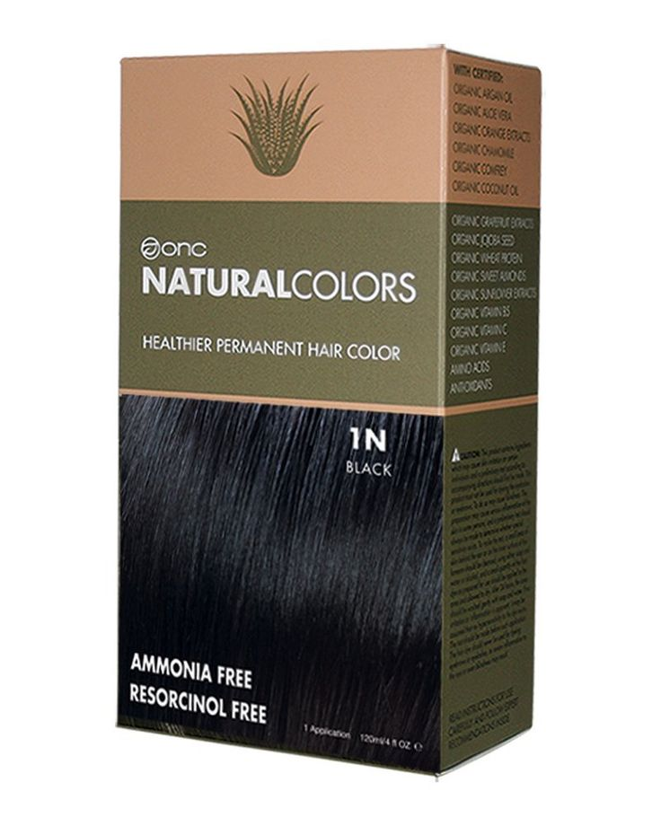 ONC NATURALCOLORS 1N Black Healthier Permanent Hair Color - 120 ml (4 fl. oz.) | Ammonia Free, Natural Hair Dye, No Parabens - Premium Salon Quality ** Check out this great article. #hairideas