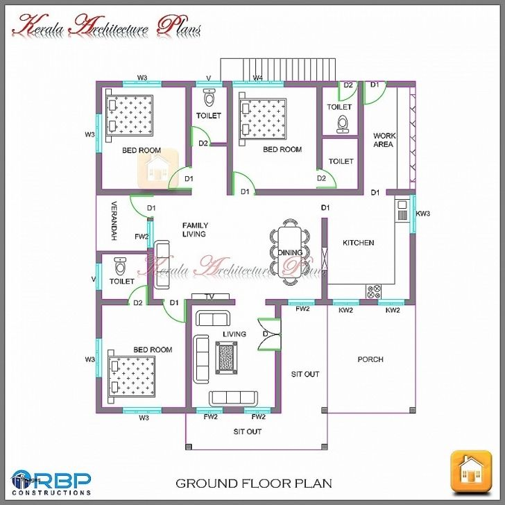 Image Of 4 Bedroom Bungalow House Design In Nigeria Youtube Architectural Designs For 4 Bedroom Bungalow In 2020 Model House Plan Kerala House Design New House Plans