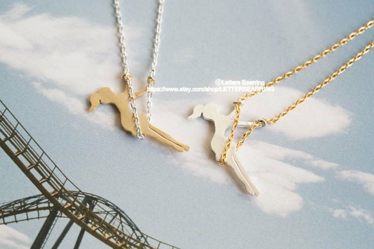 Girl on swing necklace by LETTERSEARRING, $10.80