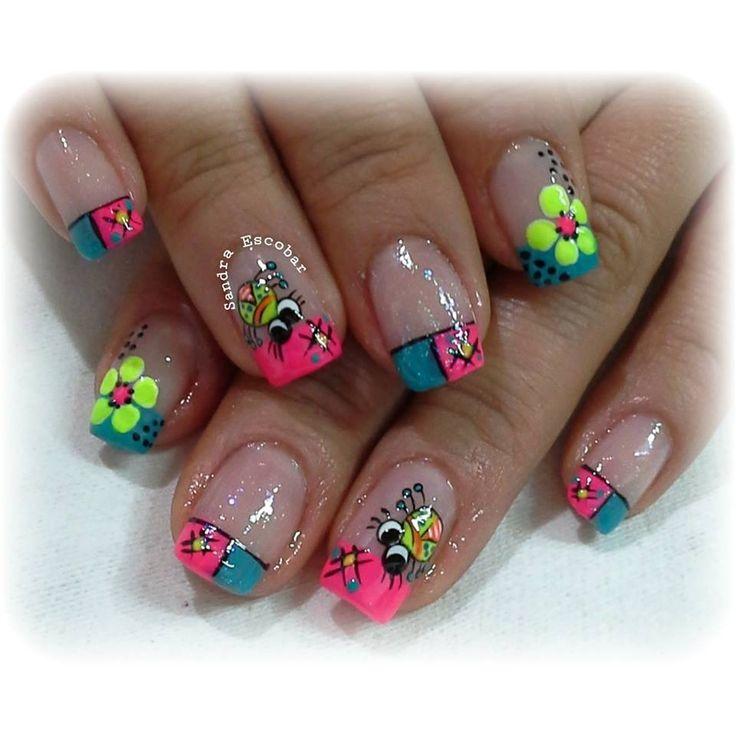 Resultado de imagen para imagenes de uñas decoradas con flores