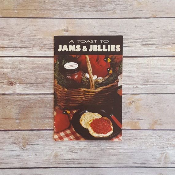New in The Book Cottage: Apple Butter Recipes Orange Curd A Toast To Jam and Jellies 1990s Cookbook Jam Recipes Country Cooking Style Book Retro 90s Kitchen Decor by TheBookCottage