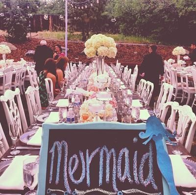 Table Setting at Eric Decker and Jessie James Wedding in Castle Rock, CO >> http://www.greatamericancountry.com/living/lifestyles/country-weddings-pictures?soc=pinterest
