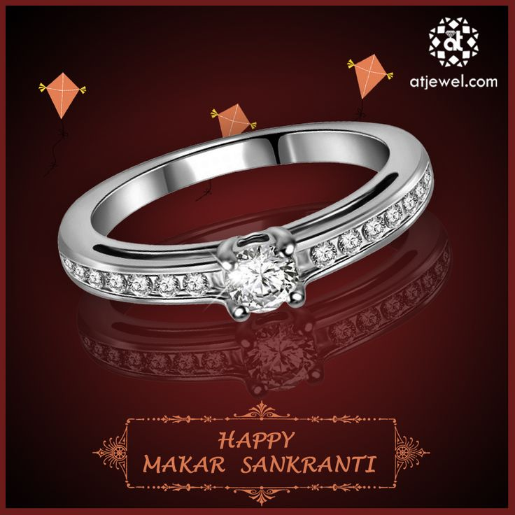 Design Of The Day.... ATJewel Wishing You a Very Happy and prosperous Makarsankranti With Beautiful Solitaire Rings.Shop Now. #ATJewel #Diamond #Rings #Diamonds #Solitaire http://bit.ly/2iSiqBa