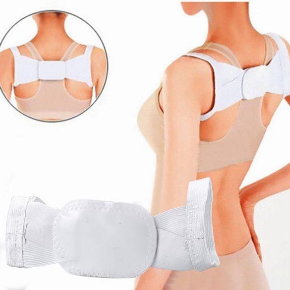 Новый Unisex Регулируемая коррекция осанки плечевой ремень Вернуться Поддержка Brace Коррекция пояс