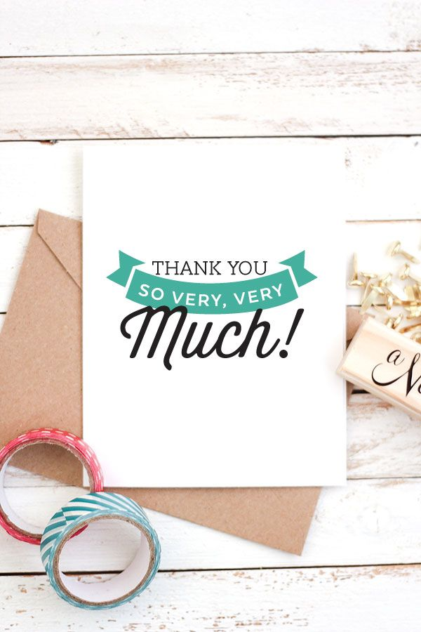 Taking the time to send a handwritten thank you note means so much and these printable cards make it easy!