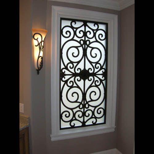 wrought iron window designs   Window Treatment / Decorative Window Grills