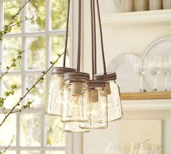 Leuchten Einweckglas Lampe Küche Fenster
