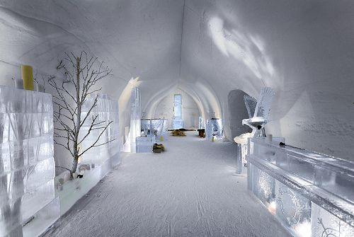 The Snow Cathedral at Kakslauttanen's Igloo Hotel in Finland