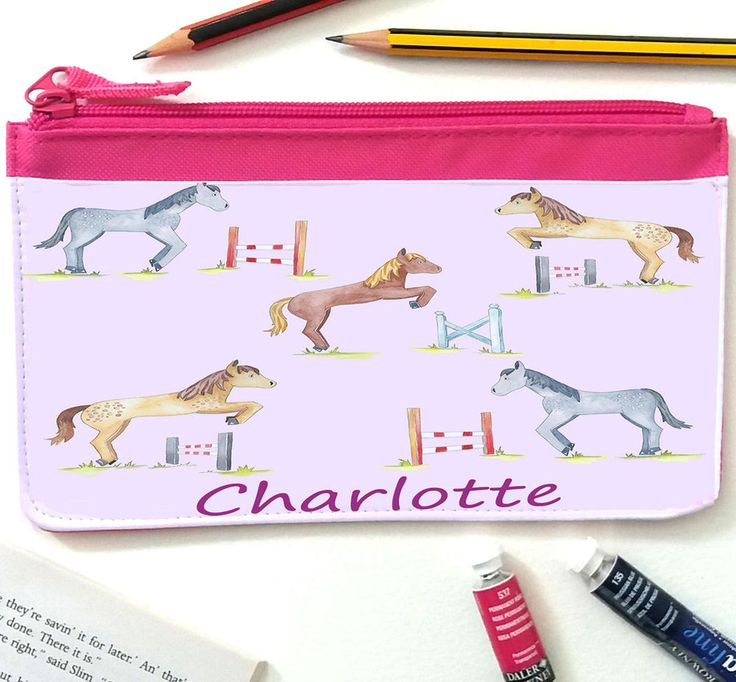 Personalised Pencil Cases, Girls Pencil Case, Back To School, School Supplies #TigerLilyPrints
