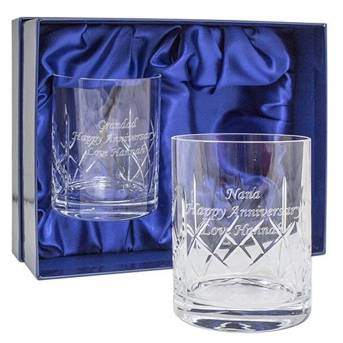 Personalised Cut Crystal Whisky Tumblers  from Personalised Gifts Shop - ONLY £34.99