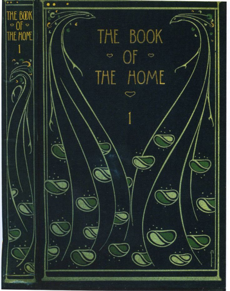"Cover of H. C. Davidson's ""The Book of the Home"" — binding design by Talwin Morris (1865-1911)"