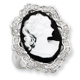 Sterling Silver CZ Cameo Ring - Size 6 - JewelryWeb JewelryWeb. $72.40
