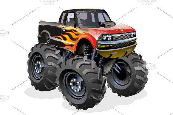 Cartoon Monster Truck Monster Trucks Cartoon Monsters Car Cartoon