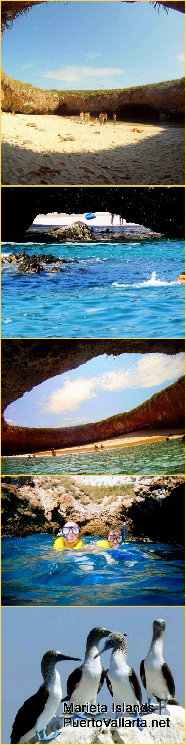 """Photos from the Marieta Islands, the beach is called """"Lovers' Beach"""" and the islands are close to Puerto Vallarta, Mexico. Read more: http://www.puertovallarta.net/what_to_do/marieta-islands.php"""