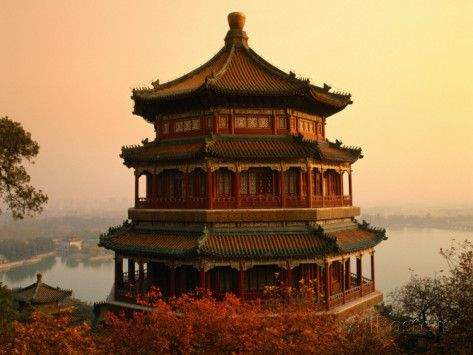 The Temple of Buddhist Virtue at Wanshou San (Longevity Hill) at Yiheyuan (Summer Palace) Photographic Print by Manfred Gottschalk at AllPosters.com