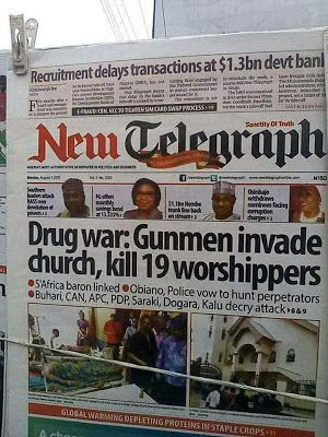 Ozubulu Killings:See Why You Should Not Trust Nigerian Newspapers(Pics)