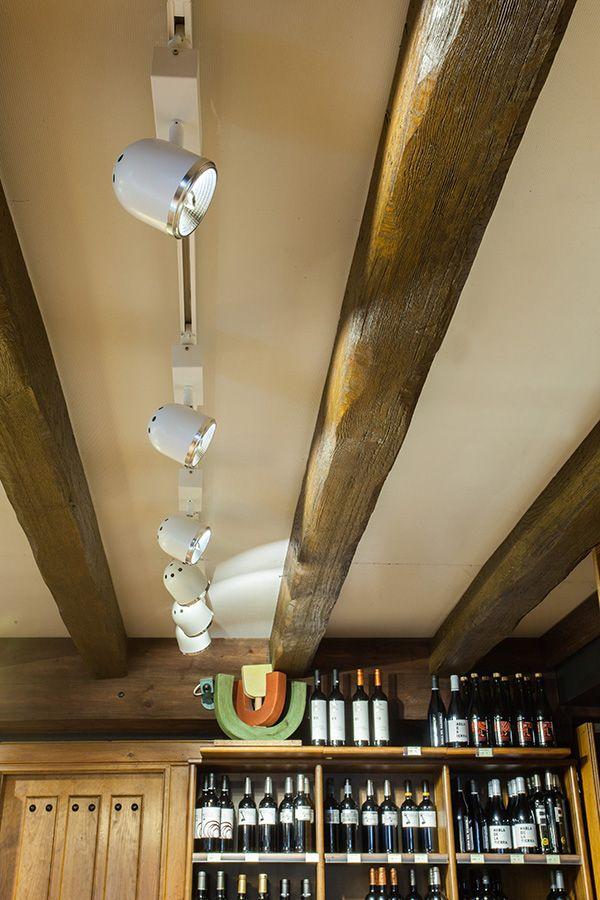 Proyecto de iluminación #LED de tienda de alimentación y delicatesen #Lukas en #Zarautz. #Downlight marca #Enkalux LED, foco Sock #Enkalux LED, #QR111, #Cubiled de #Qbo, #Timy Gold+ marca Qbo, #Timy Gold Qbo, #Timy Meat+ de Qbo.