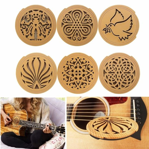 Eq Acoustic Guitar Feedback Buster Sound Hole Cover Wooden Sound Buffer Hole Protector Block Plug Sching Halt Wish Acoustic Guitar Guitar Acoustic