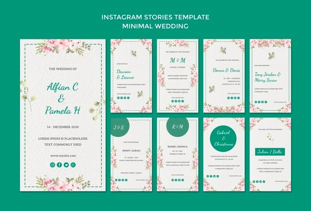 Download Instagram Stories Template With Wedding For Free Instagram Story Template Watercolor Wedding Invitations Wedding Invitation Posters