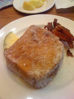 Tonga Toast is a thick slice of sourdough bread that is stuffed with bananas and then deep-fried and coated with cinnamon sugar.