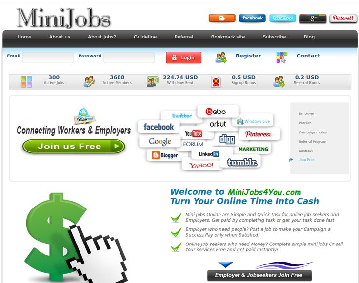 MiniJobs4You.com - Work from home and earn cash by doing mini jobs, starting your own campaign and/or selling everything you want.