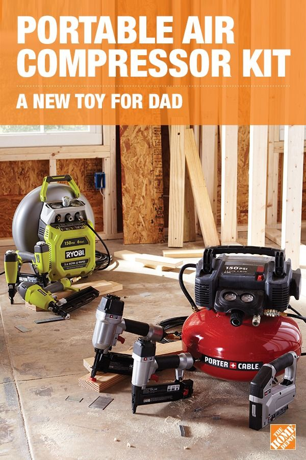 With this durable kit, Dad can do framing and finish work, crafts, flooring and furniture. The Porter-Cable Portable Air Compressor Kit includes a lightweight air compressor, two nailers, a stapler, hose, and nails. It's the perfect gift for the casual DIYer or a seasoned handy-man. Click to learn more and help Dad upgrade his hand tools.