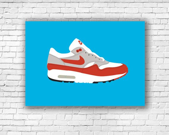 Nike Air Max 1 Illustration Print by Craftians on Etsy