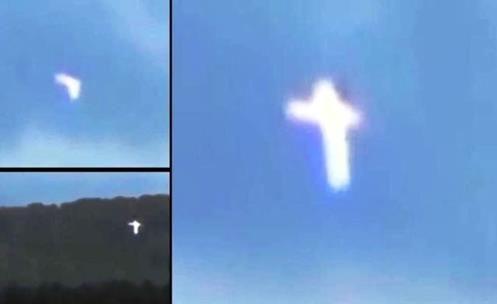 Misterioso Evento: Entidade Voadora se Transforma em uma Cruz de Luz sobre a Crimeia