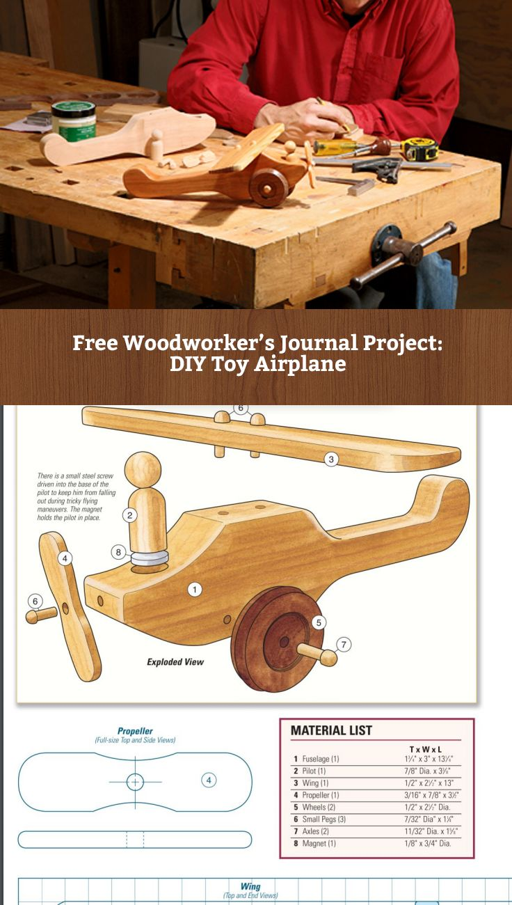 Free Project: How to Build a Wooden Toy Airplane http://www.rockler.com/how-to/build-toy-airplane/