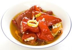 Florina Peppers Stuffed with Feta Cheese