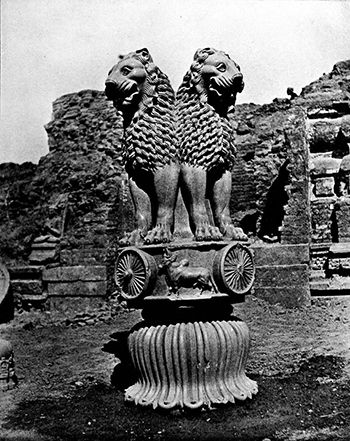 Lion Capital Ashokan Pillar At Sarnath Article Khan Academy
