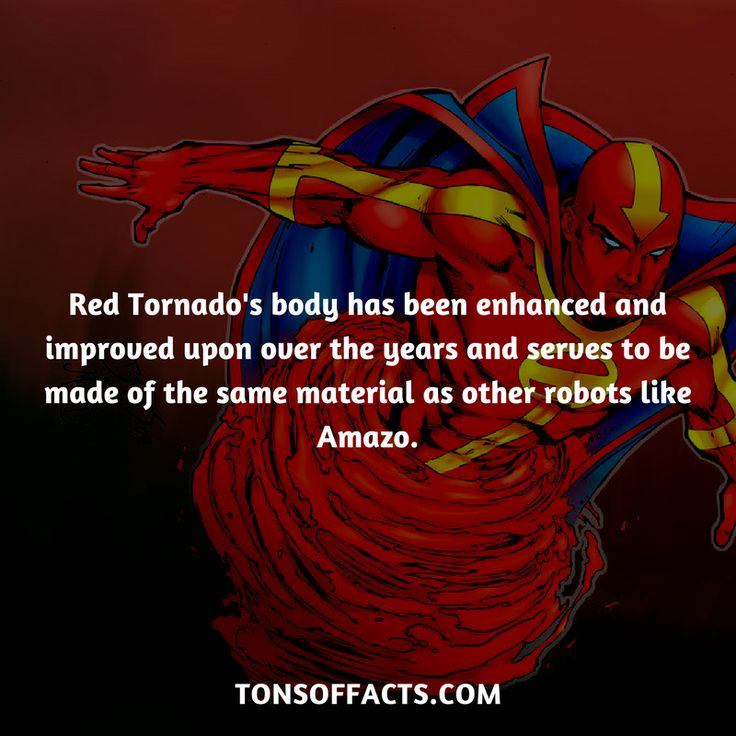 His body has been enhanced and improved upon over the years and serves to be made of the same material as other robots like Amazo. #redtornado #tvshow #justiceleague #comics #dccomics #interesting #fact #facts #trivia #superheroes #memes #1 #movies
